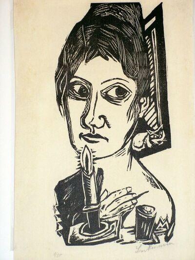 Max Beckmann, 'Frau mit Kerze (Woman with candle) (Minna Beckmann Taube) ', 1920
