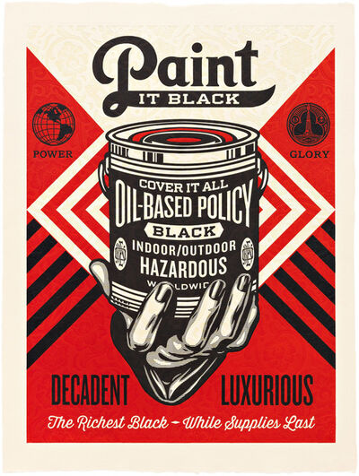 Shepard Fairey (OBEY), 'Paint it Black (Hand)', 2015