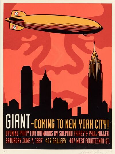 Shepard Fairey, 'Giant Zeppelin', 1997
