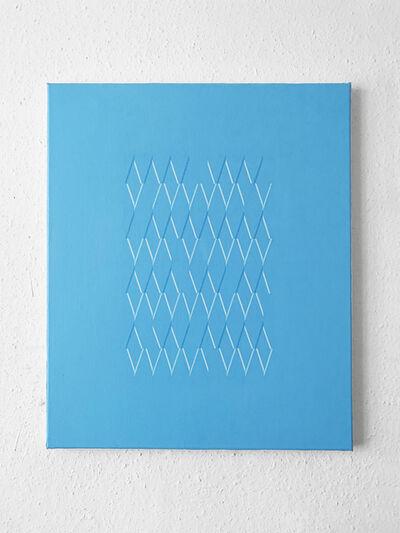Isaac Chong Wai, '114 lines in blue', 2020