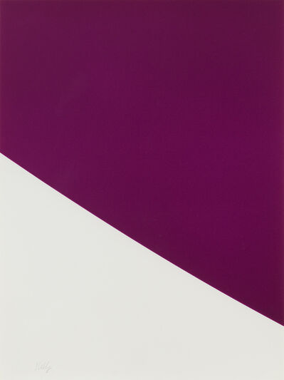 Ellsworth Kelly, 'Purple Curve', 2000