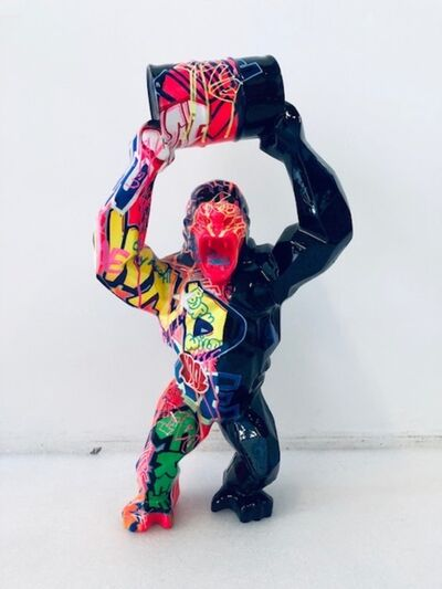 Richard Orlinski, 'Wild Kong au Bidon - Tagué', 2019