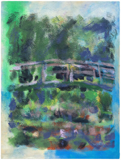 Jochen Plogsties, '7_21 [Seerosen] [Nach: Claude Monet, Der Seerosenteich, 94 × 89 cm, Öl auf Leinwand, 1899, Musée d'Orsay. In: Geo Epoche Edition, Nr. 22, Front Cover.]', 2021
