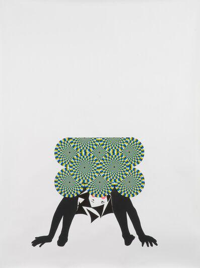 Frances Stark, 'Chorus girl folding self in half', 2008