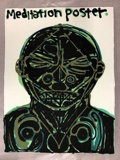 Nicole Eisenman, 'Meditation Poster II (green)', 2018