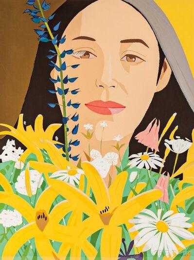 Alex Katz, 'Ada with Flowers', 1980