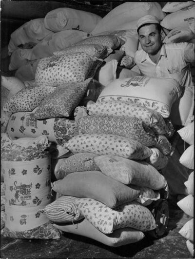 Margaret Bourke-White, 'Flowered Flour Sacks at Sunbonnet Sue Flour Mill', 1939