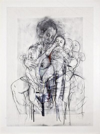 Jenny Saville, 'Reproduction drawing I (after the Leonardo cartoon)', 2009-2010