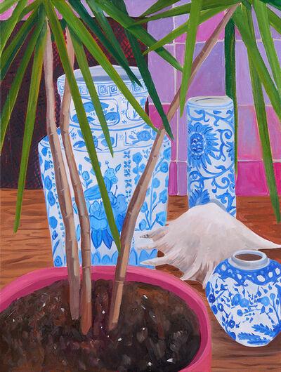 Anna Valdez, 'Palm with Blue Ceramics', 2020