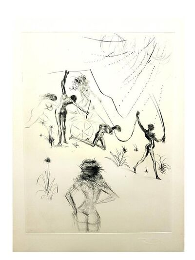 "Salvador Dalí, 'Original Etching ""Venus in Furs XIII"" by Salvador Dali', 1968"