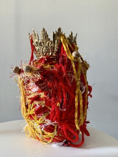 Ged Merino, 'Transitional Object in Red and Gold', 2019