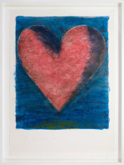 Jim Dine, 'A Heart on the Rue de Grenelle', 1981