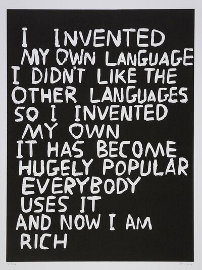 David Shrigley, 'Language', 2014