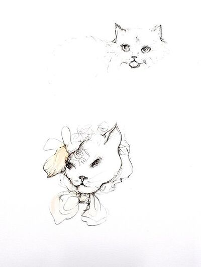 Leonor Fini, 'Leonor Fini - Cats III - Original Engraving', 1985