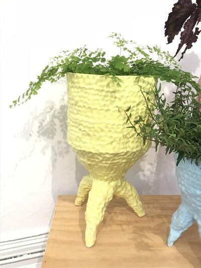 Sean Gerstley, 'Tall Yellow Tripod Planter', 2018