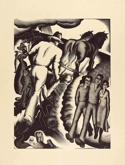 Paul Landacre, 'BREAKING GROUND', 1933-34