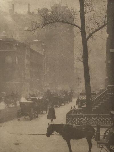 Alfred Stieglitz, 'The Street, Design for a Poster', 1903