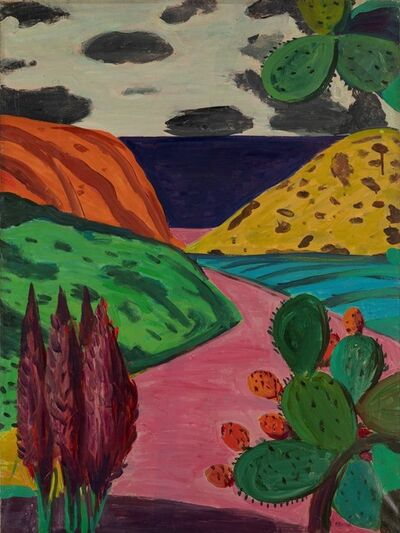 Pompeo Borra, 'Paesaggio con fichi d'india'