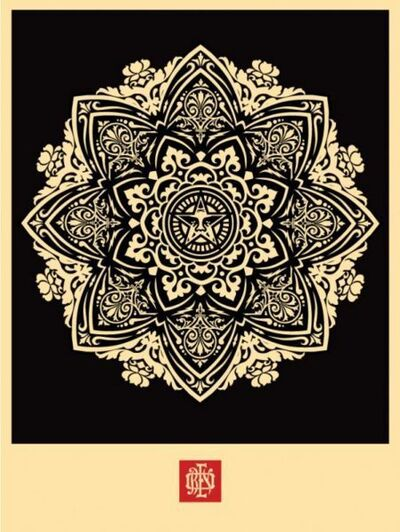 Shepard Fairey, 'Mandala Ornament 1 Black', 2010