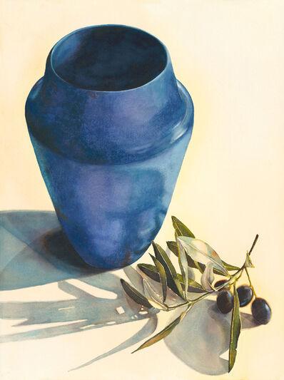"""Kathrine Lemke Waste, '""""Blue Clay, Black Olives""""', 2019"""