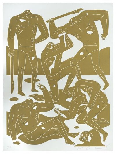Cleon Peterson, 'Mercenaries (Gold)', 2018