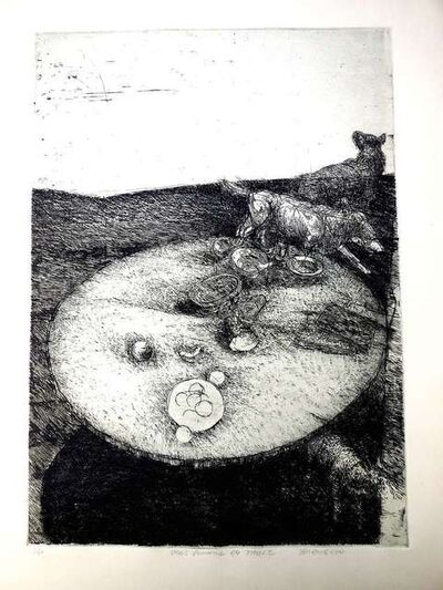 Robert Birmelin, 'Dogs Running By Table', 20th Century