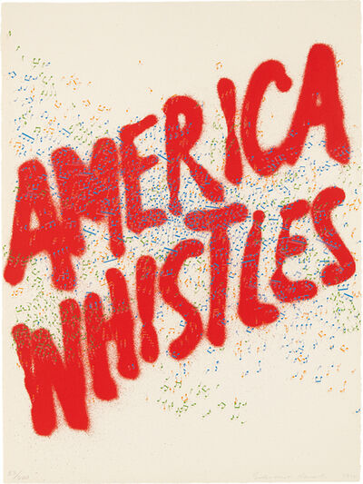 Ed Ruscha, 'America Whistles, from America: The Third Century', 1976