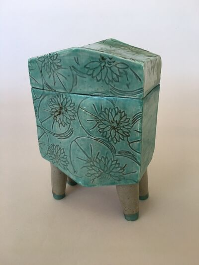 Bette Schneider, 'Lily Pad Footed Jar', 2021