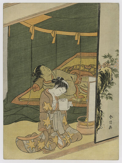 Suzuki Harunobu, 'THE SECRET LOVE LETTER', ca. 1765
