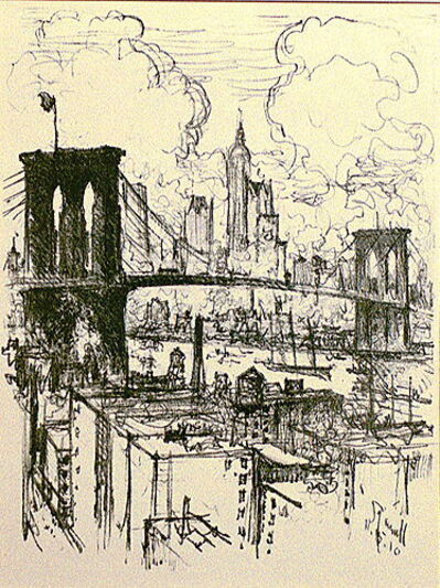 Joseph Pennell, 'Brooklyn Bridge', 1910