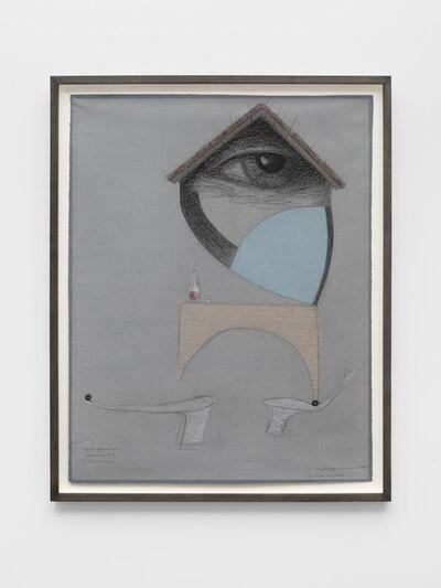 Méret Oppenheim, 'Cadavre exquis: La ruine est noire ( with Annamaria Boetti and Roberto Lupo)', 1971