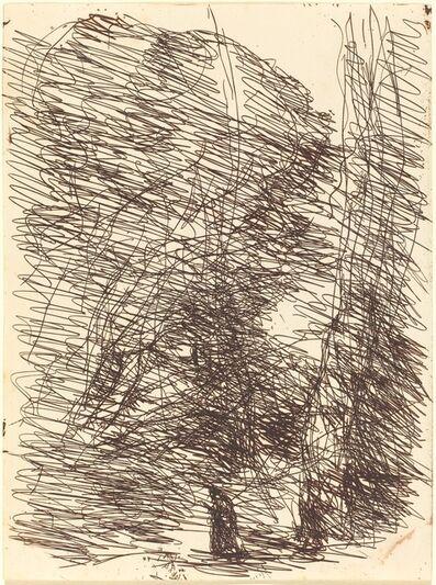 Jean-Baptiste-Camille Corot, 'Dreamer under Tall Trees (Le Reveur sous les grands arbres)', 1874