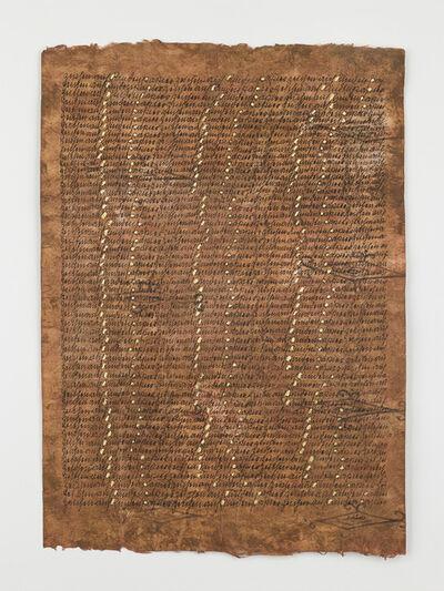 Greta Schödl, 'Segni su carta corteccia (Signs of paper bark)', 1985