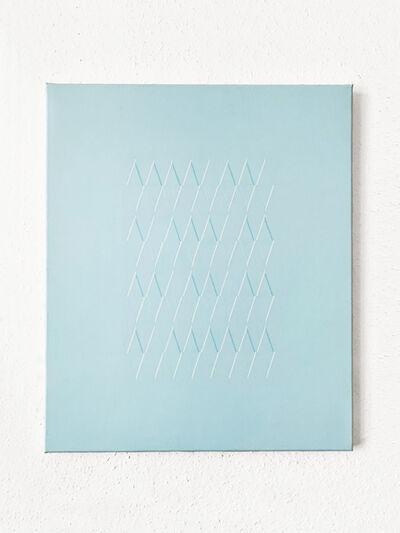 Isaac Chong Wai, '115 lines in blue', 2020