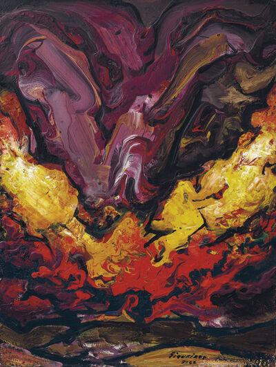 David Alfaro Siqueiros, 'Crepúsculo (Detalle para el Mural de Cuernavaca), also known as Paisaje', 1965
