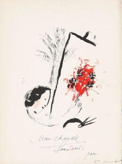 Marc Chagall, 'Menu of a dinner ', 1957