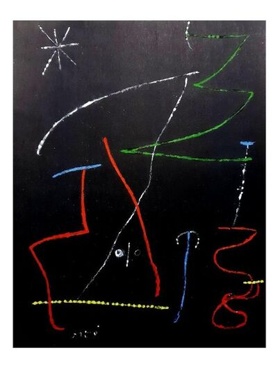 Joan Miró, 'Joan Miro (After) - Pochoir Pour 'XX Siecle'- Abstract Stencil', 1958