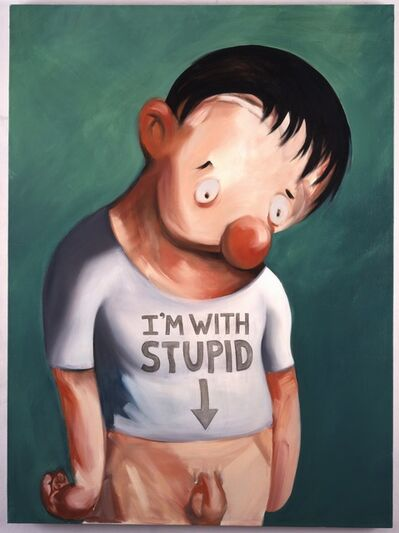Nicole Eisenman, 'I'm with Stupid', 2001