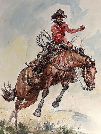 Joe Beeler, 'Cowboy on Bucking Horse ', 20th Century
