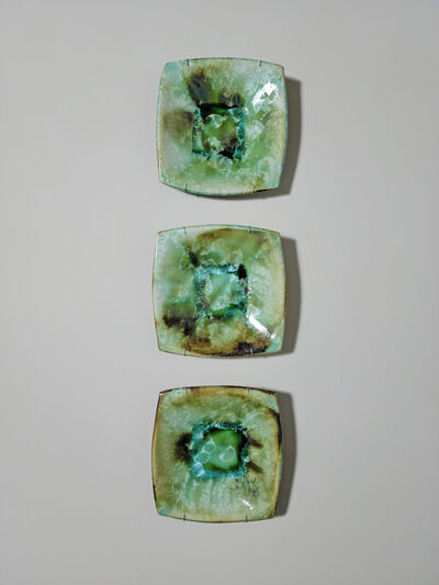 Gary Beaumont, 'Green Crystal Tryptych', 2021