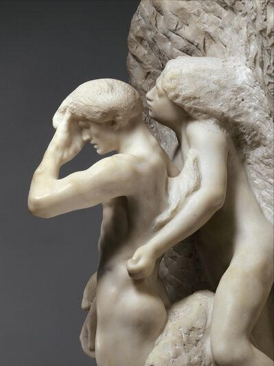 Auguste Rodin, 'Orpheus and Eurydice', Modeled probably before 1887-carved 1893