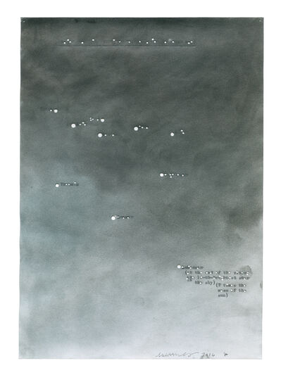 Melissa McGill (b. 1969), 'Major stars in the river Constellation (a rough map)', 2016