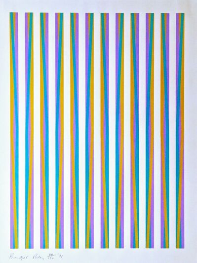 Bridget Riley, 'Untitled, from Conspiracy the Artist as Witness (Schubert, 15)', 1971