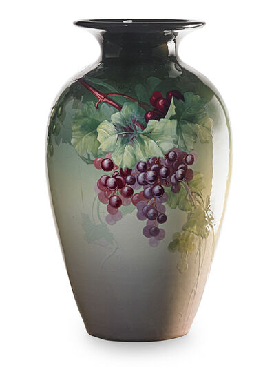 Weller Pottery, 'Eocean floor vase with grapes', 1898-1915
