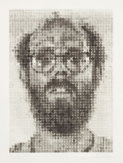 Chuck Close, 'Self Portrait', 1988
