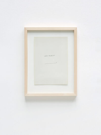 Felix Adam, 'Kein Proplem', 2018