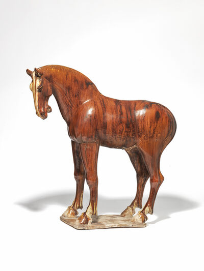 Unknown Chinese, 'A chestnut-glazed Tang pottery horse', Tang Dynasty (618-906 AD)