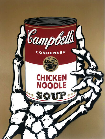 Rich Simmons, 'Campbell's Chicken Soup Death Grip (Gold)', 2017