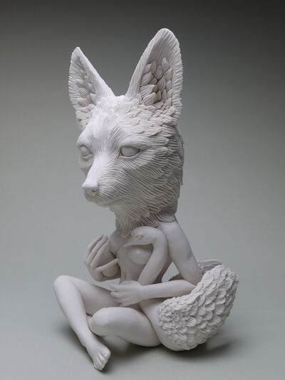 Crystal Morey, 'Leda and the Swan: Sierra Nevada Red Fox', 2019