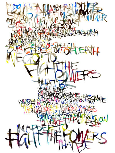 Graham Dolphin, 'PROTEST (Fight the Power - Public Enemy)', 2020